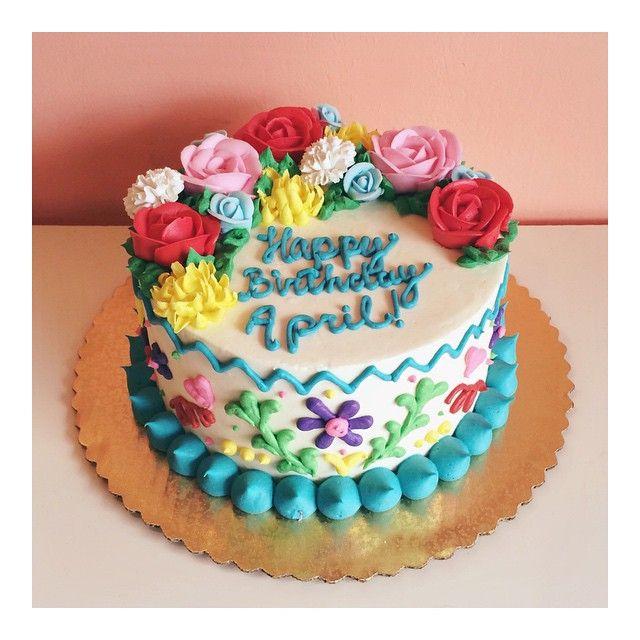 Sweet little fiesta birthday cake by 2tarts Bakery. www.2tarts.com