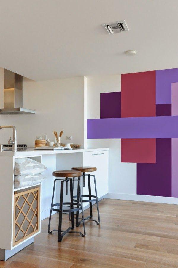 pintura geometrica na parede