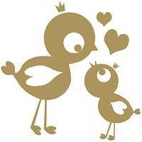 Vogelmama mit Kind