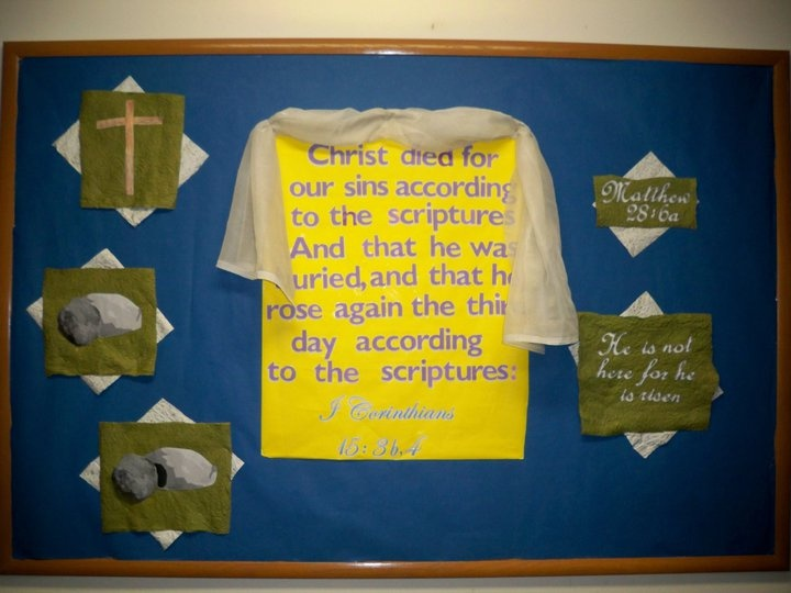 Bulletin Board for EasterChurch Ideas, Schools, Kids Stuff, Church Bulletin, Children Activities, Catholic Bulletin Board Ideas, Bulletin Boards, Awesome Bulletin, Boards Ideas