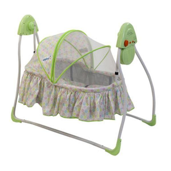 www.bebekdunyasi.com.tr Crystal Baby CB 130 Dandini Elektrikli Bebek Beşiği Elektrik ve pille çalışabilen sallama özelliği Cibinlik kumaşlı tente 3 kademeli hız ayarlı 12 farklı müzİkli ve ışıklı