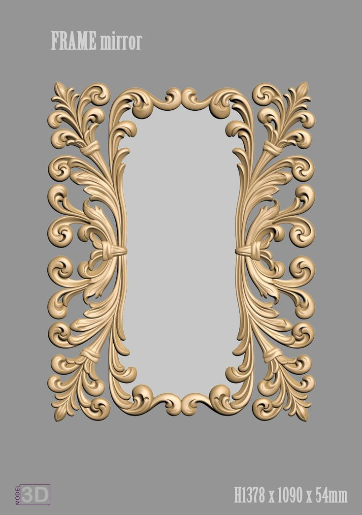 A1109 FRAME mirror 3d models for cnc router | Art For Frames in 2018 ...