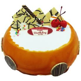 Butterscotch Eggless Cake - Order online cake delivery in Coimbatore-Friend In Knead has professionals to make fine quality fresh cakes for free delivery on time at anywhere in Coimbatore.  #Online Cake Shop in Coimbatore #Online Cake home Delivery in Coimbatore #Online  #Eggless Cake  #Best Quality Cakes Online  #Fresh cakes online Coimbatore #fnk.online #fnk #coimbatore #cakes #birthday cakes #Chocalate cakes #Theame cakes #home delivery #free delivery #door delivery #cash on delivery