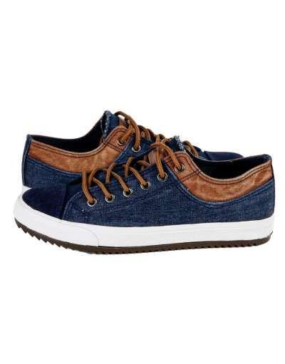 ΝΕΕΣ ΑΦΙΞΕΙΣ :: Ανδρικό Παπούτσι Vintage Old School Jean Blue- OEM