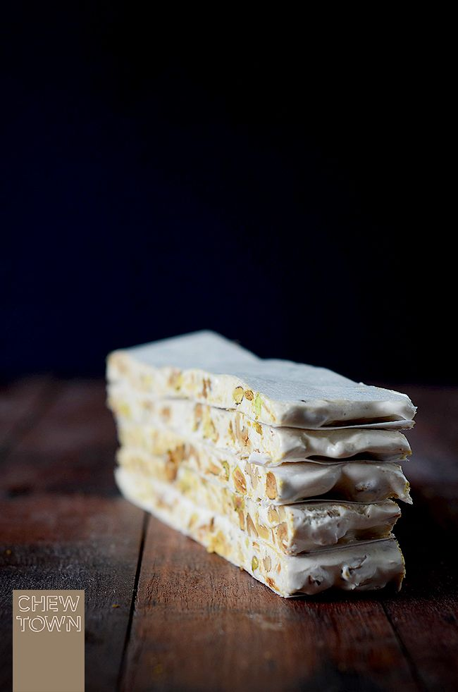 Chew Town: Pistachio, Walnut and Coconut Nougat - The Sweet Swap Recipe