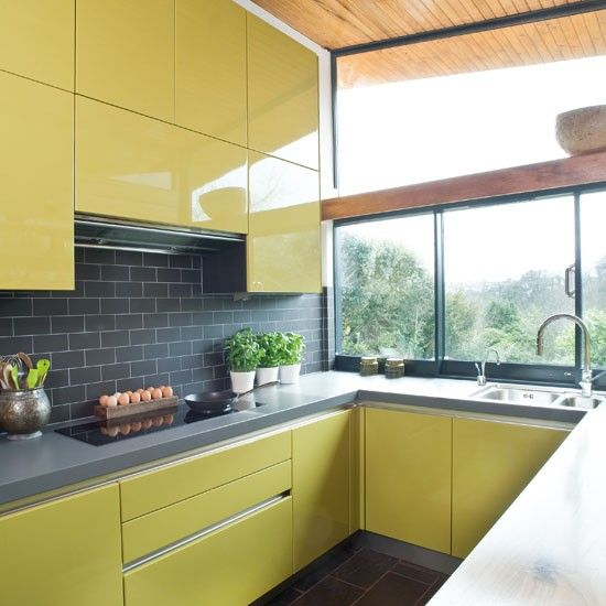 Work surfaces   Step inside a quirky green retro-inspired kitchen   PHOTO GALLERY   Beautiful Kitchens   Housetohome.co.uk