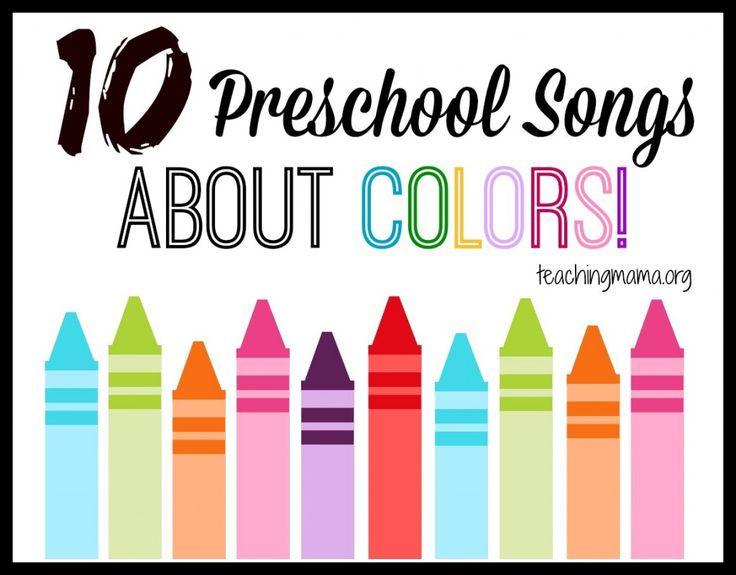 Teaching Mama: 10 Preschool Songs About Colors. Pinned by SOS Inc. Resources @SOS Inc. Resources.