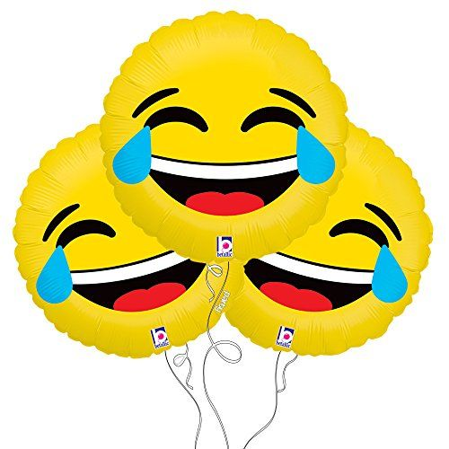Celebrate with our superior mylar balloons. Great for parties and special events! Mylar Balloons 18″ Diameter Comes in a pack of 3! Laughing with tears LOL emoji balloon Double-sided