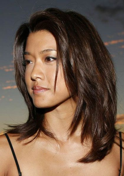 Grace Park's Mid-Length Layered Hairstyle - Casual, Everyday -Careforhair.co.uk