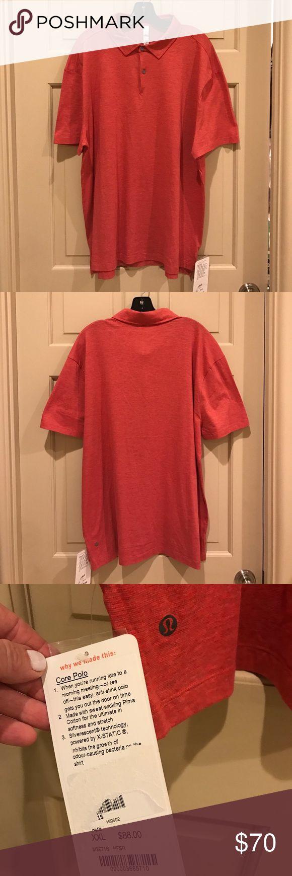 lululemon athletica Core Polo lululemon athletica Red Core Polo Top. BNWT. lululemon athletica Shirts Polos
