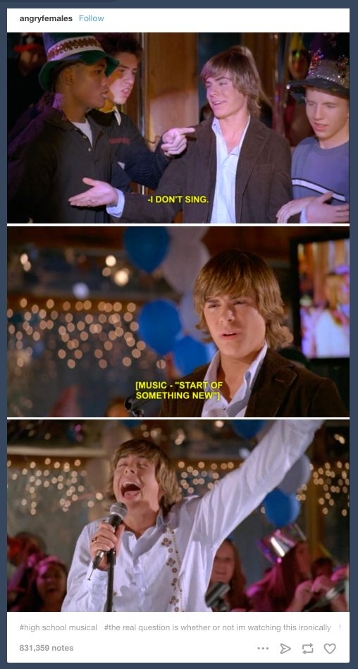 "The greatest lie ever told: | 29 Times Tumblr Had Jokes About ""High School Musical"""