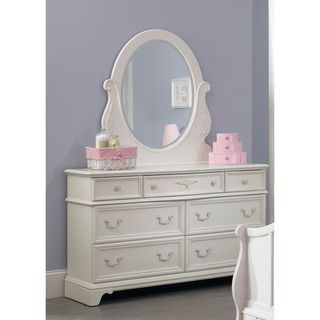 Arielle Antique White Wood Dresser and Mirror Set | Overstock.com Shopping - Big Discounts on Kids' Dressers