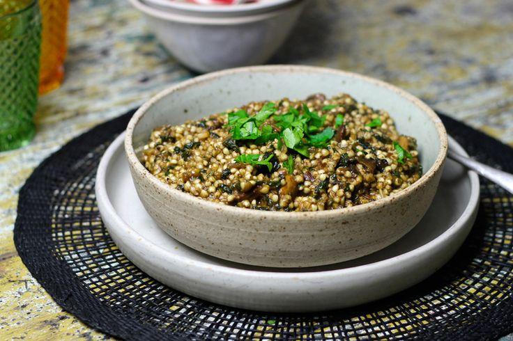 friday-foodie-amy-crawford-porcini-mushroom-kale-buckwheat-risotto