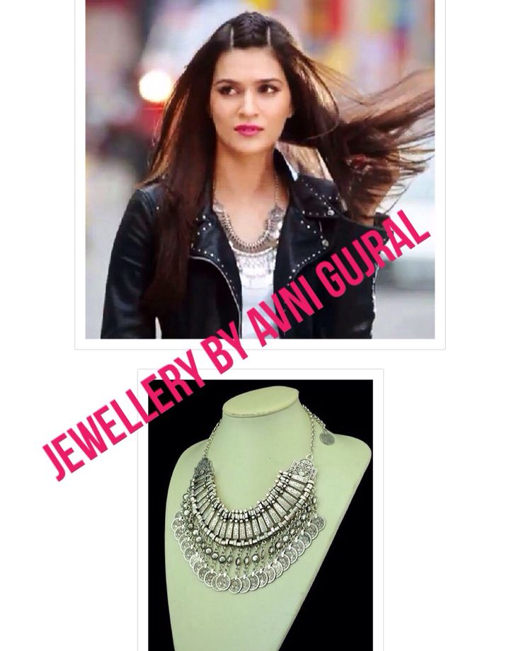 Get the look @jewellery_by_avni_gujral with the tribal coin necklace. Kriti Sanon looking smashing in her new film Dilwale #jewellerybyavnigujral #coinjewellery #coinnecklace #tribaljewellery #backinfashion #statementcoins #notmoneycoins
