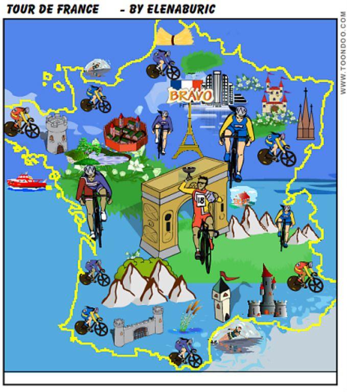 Entraînement en ligne - FLE: Le Tour de France.Histoire de sa création. Compréhension orale d'une vidéo