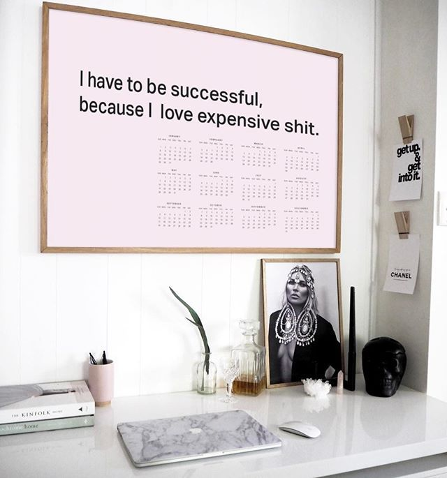 Our 'Have to be successful' motivational calendar is framed up and on the wall! Speaks for itself really doesn't it? Don't have yours yet?  Here take 20% off all calendars (inc. this one!) with the code: NEWYEAR Offer ends Wednesday evening. ◾️SHOP: OliveEtOriel.com