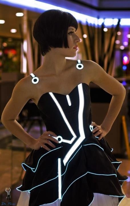 Close up of the Tron Dress