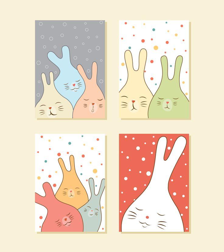 My set of sleepy bunnies
