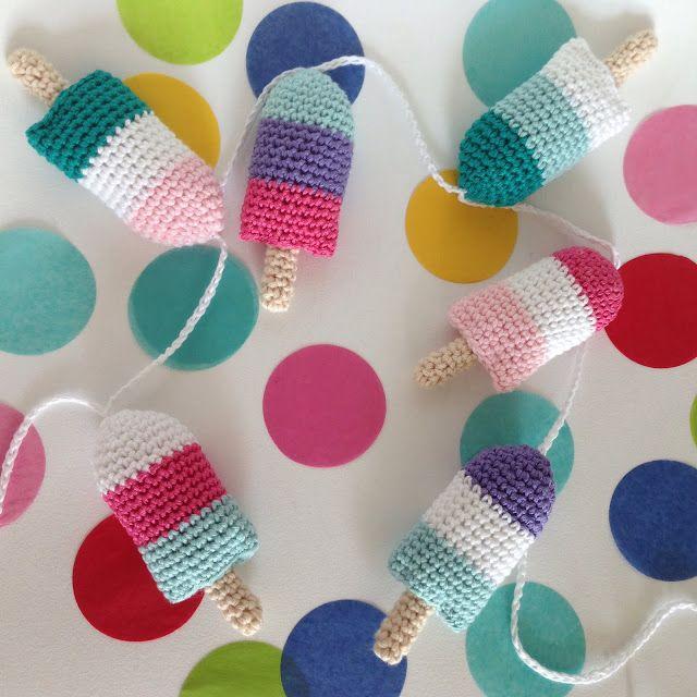 ijslolly-slinger haakpatroon / popsicle-bunting crochetpattern