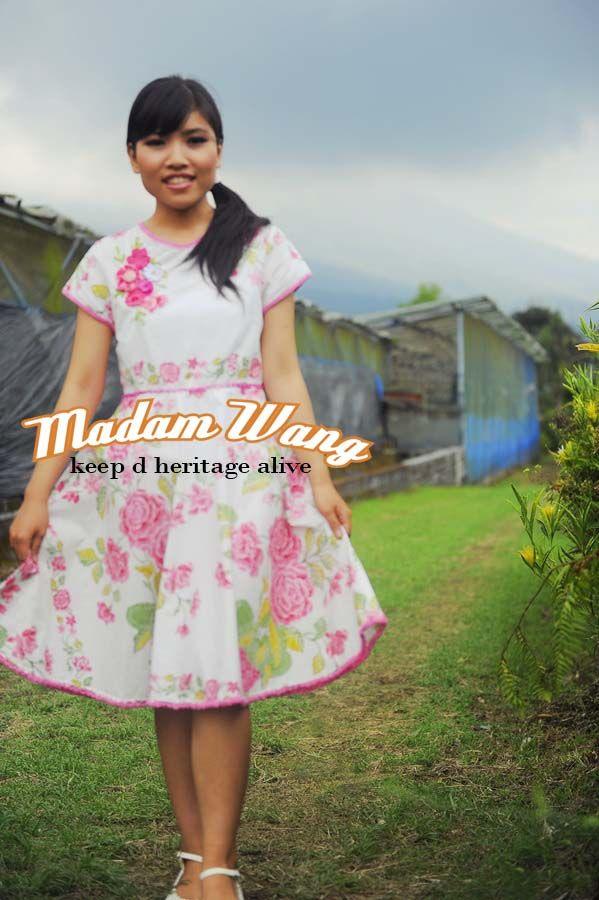 flowery batik dress