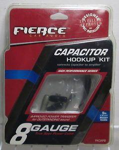 Fierce Car Audio 8 Gauge Capacitor Hook Up Kit 5 Feet FKCAP8