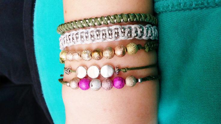 macrame  tiny friendship  bracelets