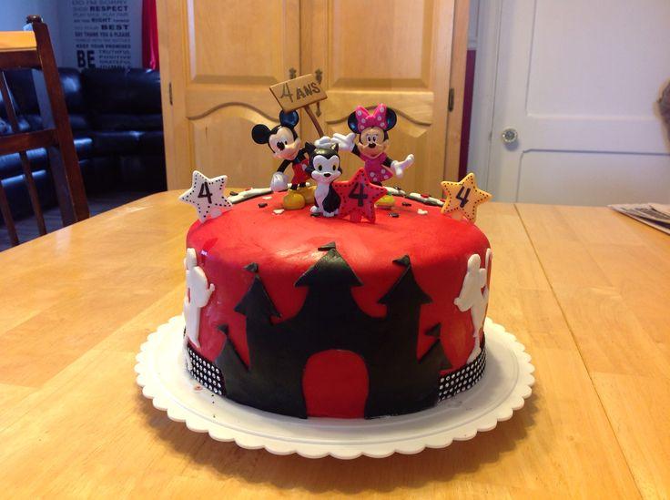 Gâteau Mickey Mouse fondant