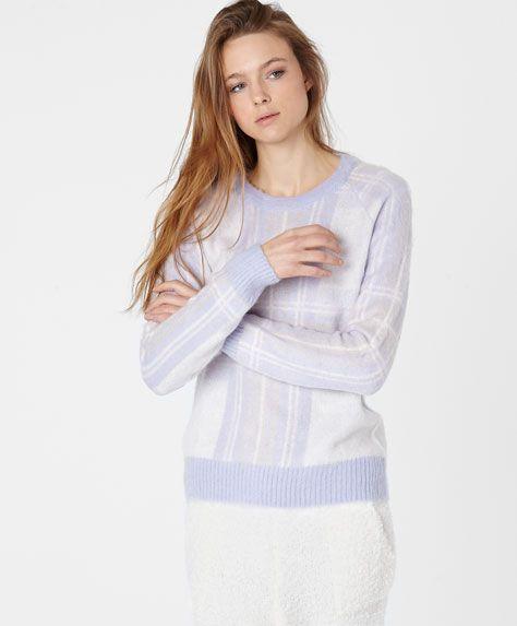 Check pattern jersey - OYSHO