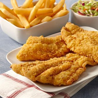 Want a crispy, Southern fried fish recipe? Zatarain's Crispy Southern Style Fish-Fri gives catfish, or any fish, an especially crisp texture. Mix milk, Zatarain's Creole Mustard and lemon juice, then dip fish in mixture, coat with fish-fri and fry away. Spice it up with hot sauce for a perfect seafood dish.