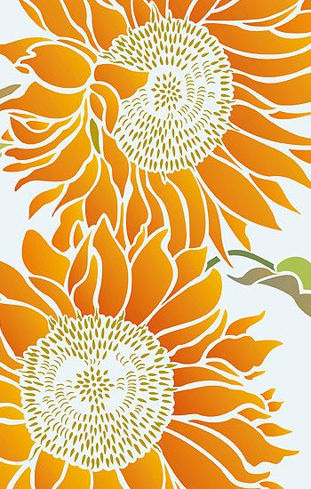 Sunflower Stencils Large Sunflower design                                                                                                                                                                                 More