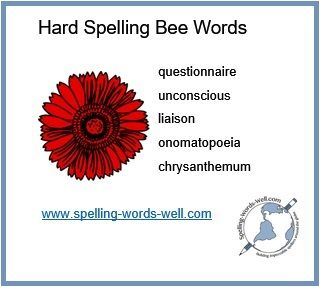 Master this list of hard spelling bee words and definitions before your next spelling bee competition! Great for classroom or home study.