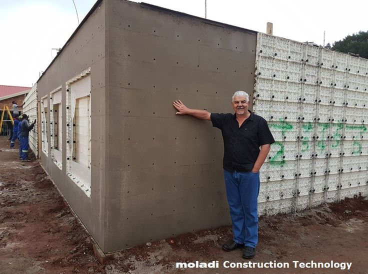 Inventor of plastic formwork   moladi plastic formwork system   the worlds smallest formwork module  Invented by South African Hennie Botes in 1986