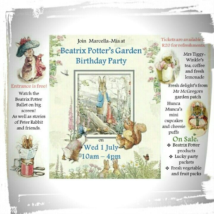 Beatrix Potter Garden Birthday Party 1 July
