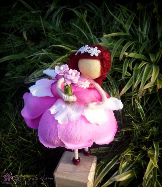 Pink Flower Petal Doll Pink Petal Doll by OrientalColour on Etsy