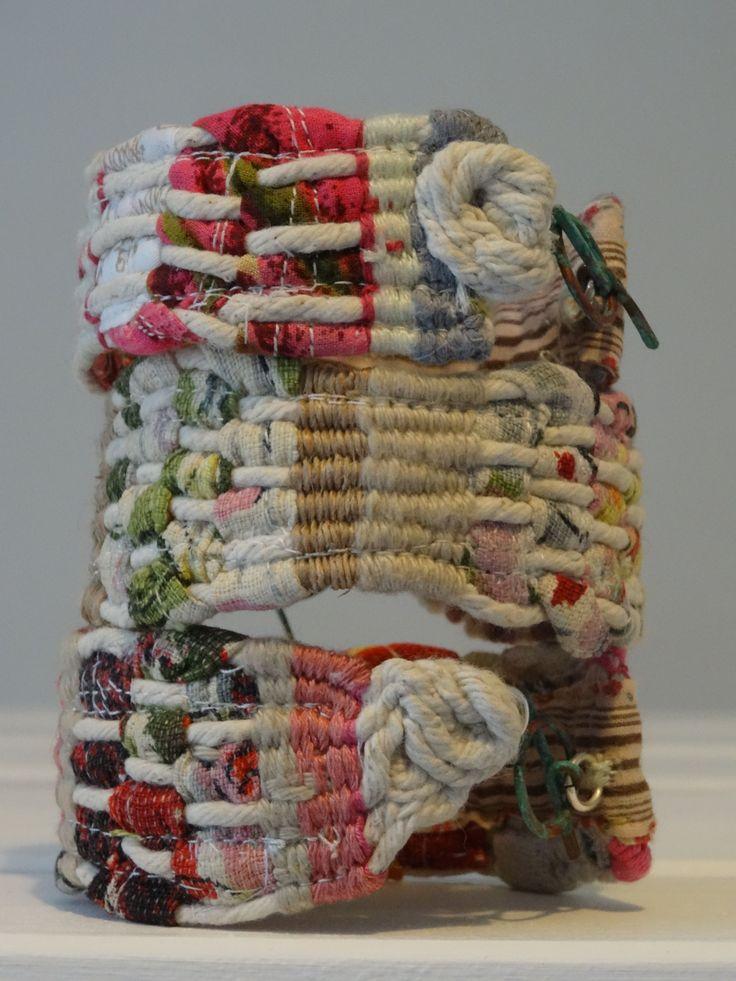Kate Whitehead Textiles 3 x Hand Woven bracelets © 2015 Kate Whitehead