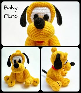 "Original pinner said, ""Baby Pluto Amigurumi - FREE Crochet Pattern / Tutorial"" #free #pattern #crochet"