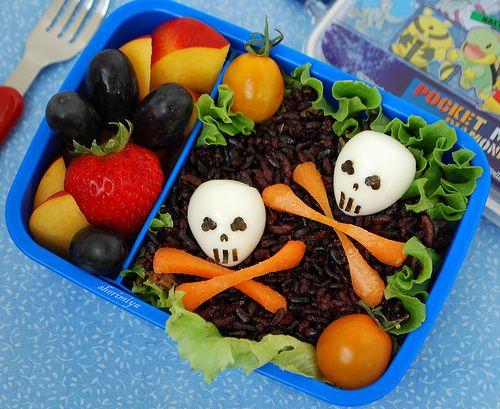 Happy Little Bento: Double Skull Bento