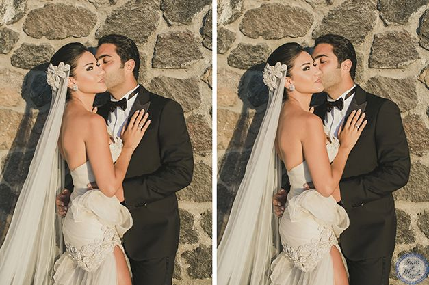 Exclusive Wedding | Santorini Wedding by Stella and Moscha - Exclusive Greek Island Weddings | Photo by Anna Roussos | http://www.stellaandmoscha.com/wedding-photos/private-villa-wedding/