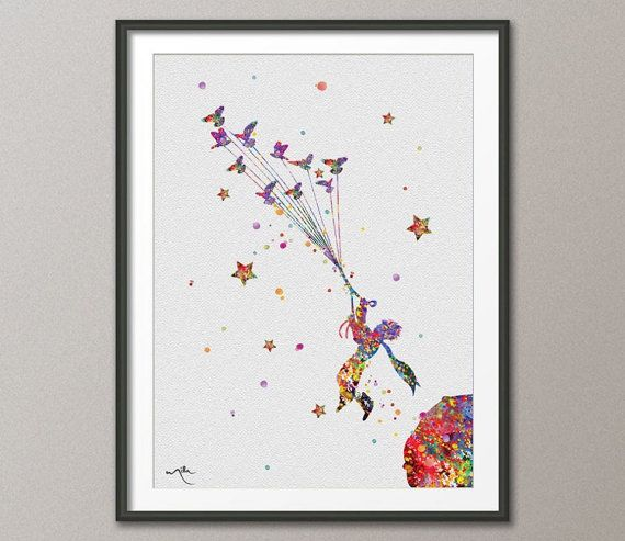 The Little Prince 2 Le Petit Prince Watercolor illustrations Art Print Giclee Wall Decor Art Home Decor Wall Hanging No 168 on Etsy, $15.00