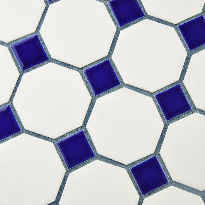 Add simple elegance to your home decor with the EliteTile Retro Random Sized Glazed Porcelain Mosaic with Cobalt Dot. The tiles have a classic design that look beautiful in any decor. It is a nice addition for any home. Beautifully made from porcelain, this tile is sturdy and durable. It has an octagon shape with a glazed surface finish that makes it look attractive. This tile has a matte white and contrasting glossy cobalt finish that looks beautiful and blends well with most decors. It can…