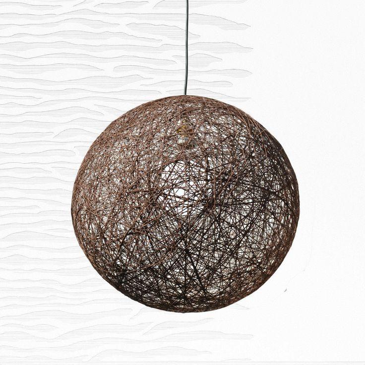 """Brown shadow lamp. Pendant string light, globe pendant lamp, design light fixture. Bedroom lighting fixture, modern ceiling lamp (45cm-18"""") by LightmeUpDesign on Etsy"""