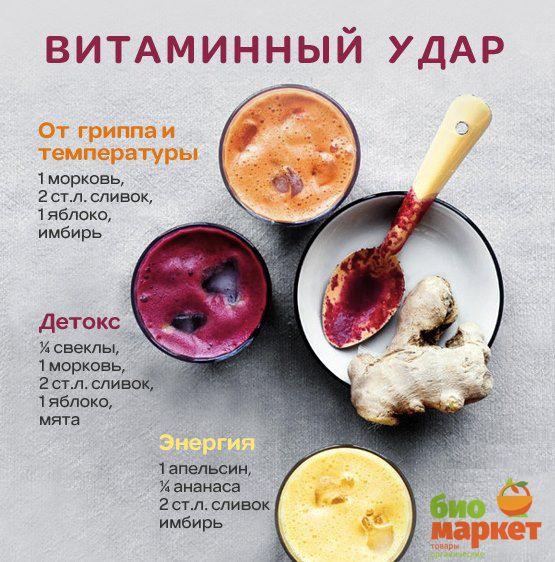 Рецепты смуззи для вашего здоровья! Ингредиенты можете найти в Био-Маркете: http://www.bio-market.ru