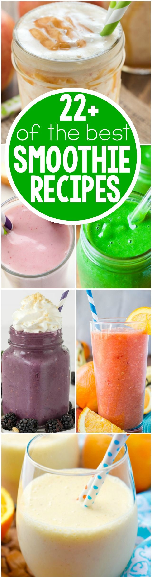 22 of the BEST Smoothie Recipes that will help you with your healthier eating goal this year!