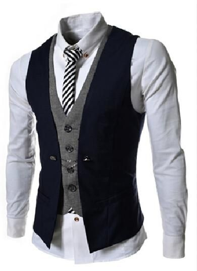New Formal Fashion Men's Suit Vests For Any Occasion