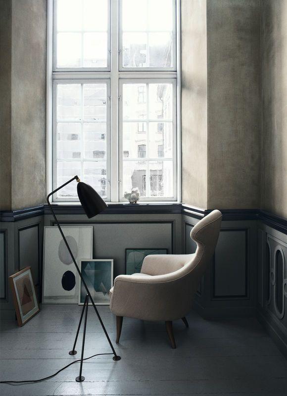 GUBI // Eva chair and Gräshoppa floor lamp