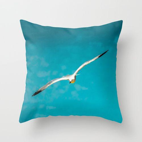 Seagull   by Loredana | Society6 #Throw #Pillow