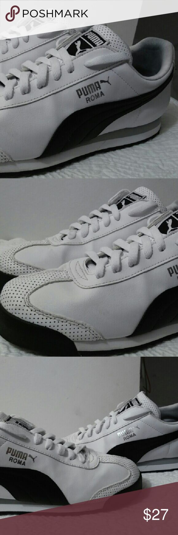 Men's PUMA SNEAKERS Shoes in near new condition worn at least 4 times...Perfect for all your casual activities and willing to look smart on your weekends.shoes has the original color as black and white...a very bright white...200% authentic and very durable piece. Puma Shoes Sandals & Flip-Flops