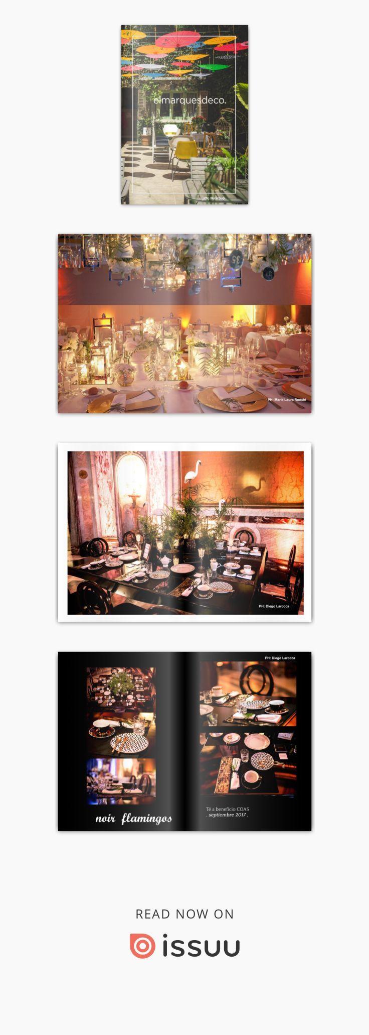 Brochure el marques deco ambientaciones  Una muestra de mis trabajos: estilismo para ambientación para eventos, contenido para redes sociales, vidrieras (escaparates), proyectos de interiorismo para viviendas. Diseño interior y visual para locales comerciales.