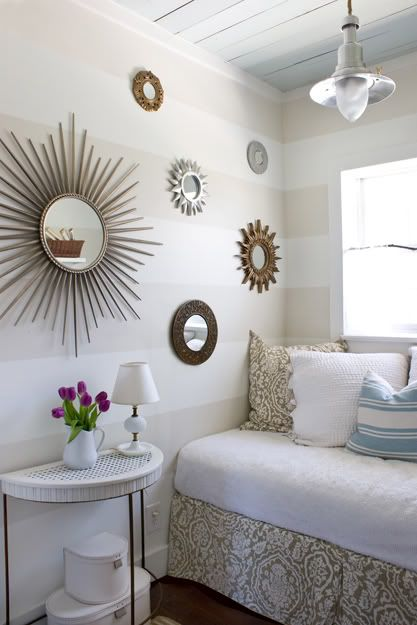 Perfect The Look Of A Wall Full Of Sunburst Mirrors. By Theletteredcottage.net.