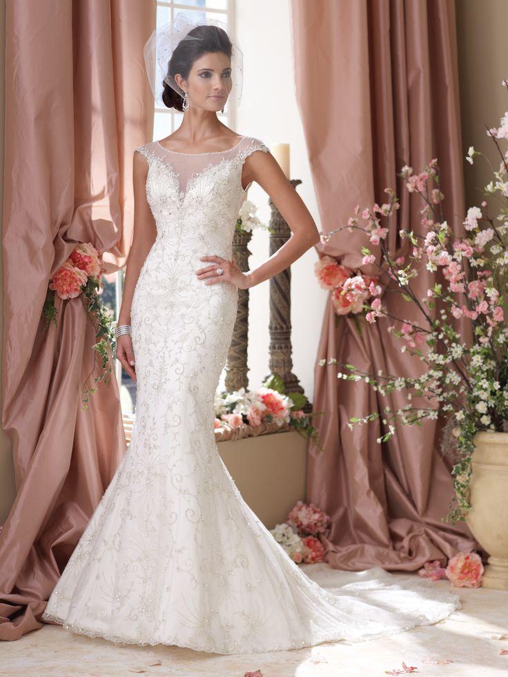 Unique  David Tutera for Mon Cheri wedding dresses and bridal